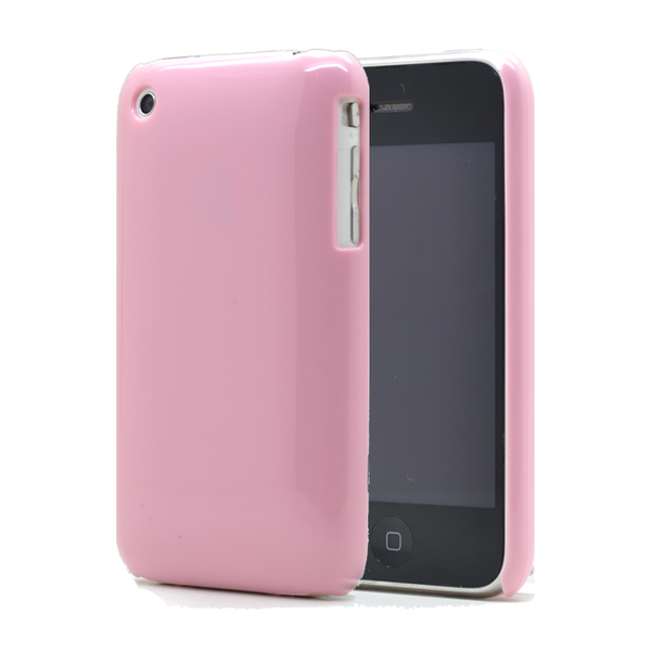 Shiny baksideskal till apple iphone 3g / 3gs – (rosa)
