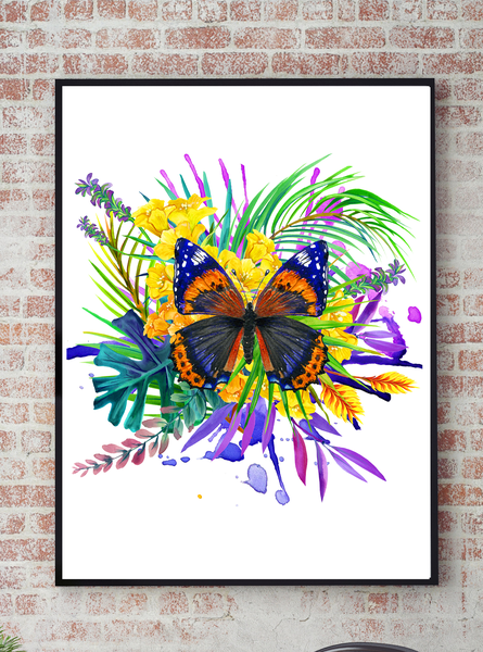 Poster - Butterfly Butterfly Butterfly tropical No.4 30x40cm 1d643f