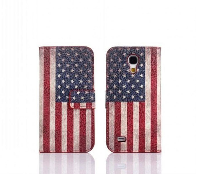 Plånboksfodral galaxy s4 mini pu-läder usa eller uk flagga