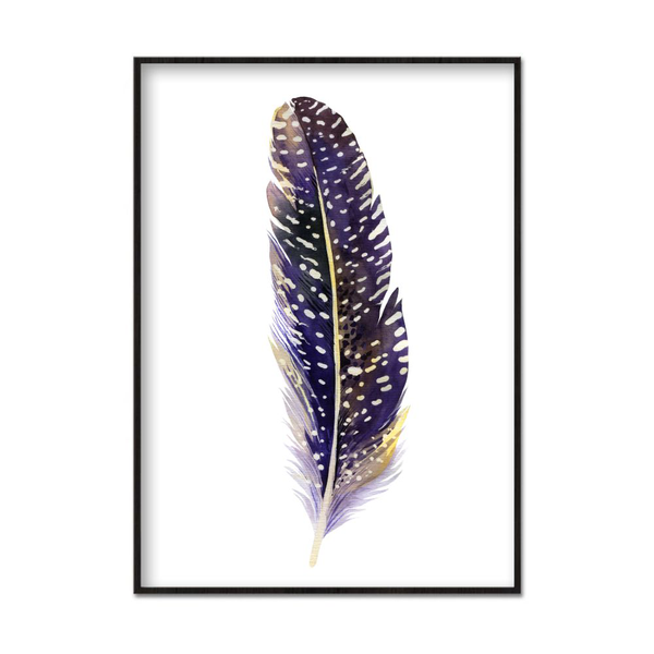Poster A4 21x30cm Dotted Feather