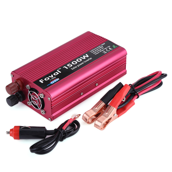 1500w dc 12v to ac 110v power inverter converter w/ dual