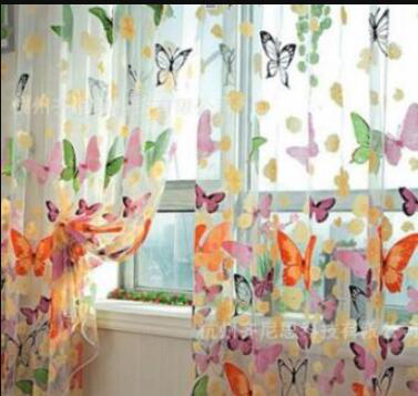 Burnt-out offset large butterfly screen (not washable) 100*2
