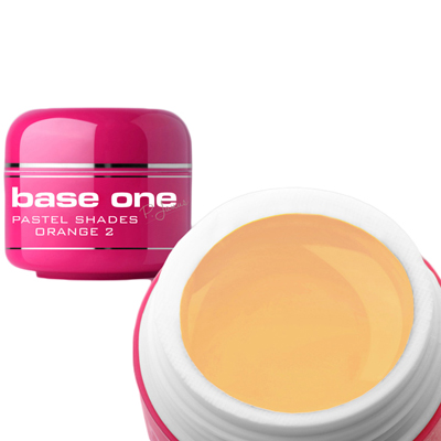 Base one – uv gel – pastel shades – orange – 02 – 5 gram