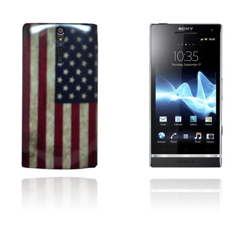 Victorious flag (usa flagga) sony xperia s skal