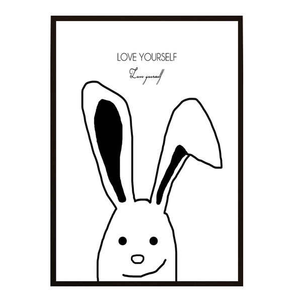 Poster Poster Poster - Kanin Love yourself - 2 21x30cm 971c58