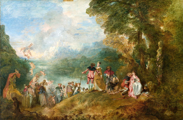 Embarkation from Cythera,Jean-Antoine Watteau,60x40cm