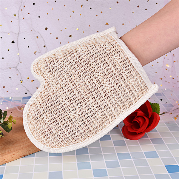 1x exfoliating bath glove natural sisal shower sponge cleansing