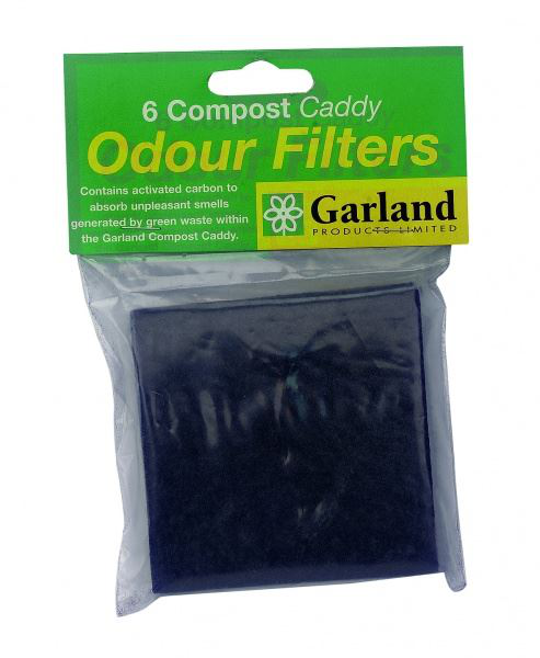 Set of 6 Replacement Odour Filters for Compost Caddy Bin Bin Bin 4a84ab