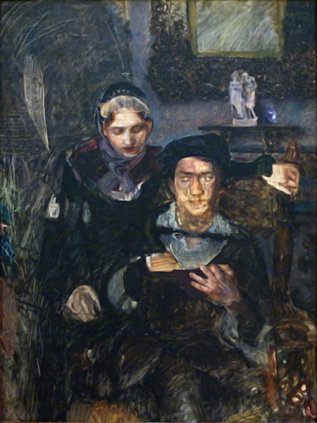 Hamlet and Ophell,Mikhail Vrubel,50x40cm