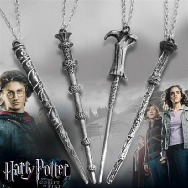 Wand of harry alloy pendant necklace movie harry potter