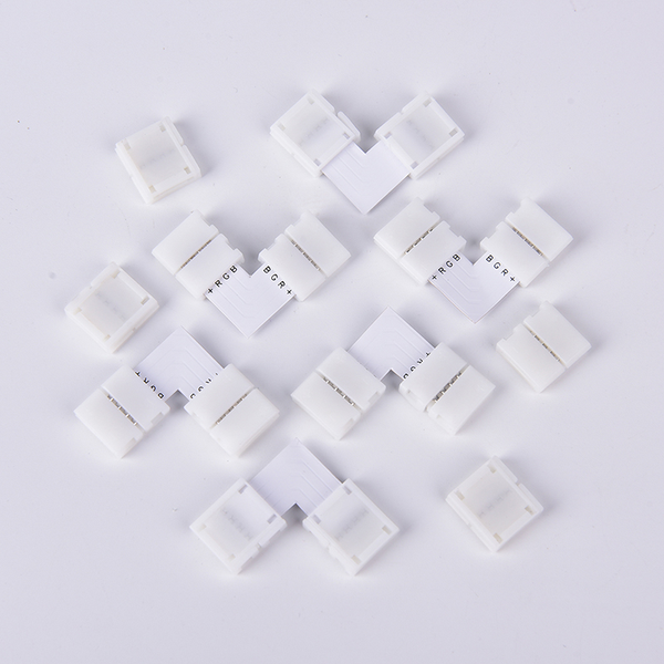 10 pcs mini 4-pin rgb connector adapter for rgb 5050 led strip s