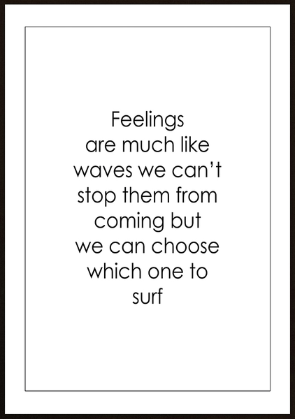 Poster - Feelings are much like waves No.2 21x30cm