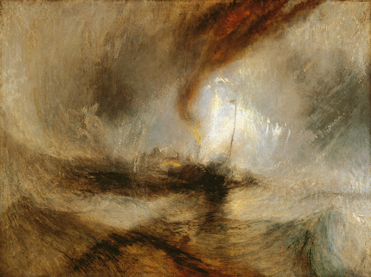 Snow Storm-Steam Boat off a Harbour's,J.M.W. Turner,50x40cm