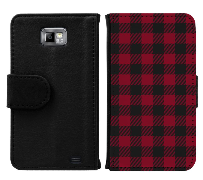 Samsung galaxy s2 plånboksfodral checkered flannel