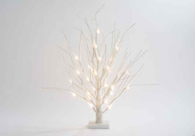 60cm Battery Operated Vit 32 LED Christmas Tree with Snow Effe