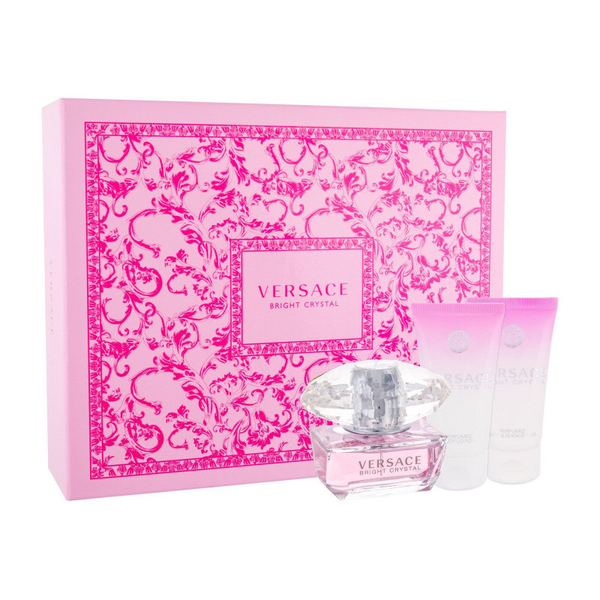 Giftset versace bright crystal edt 50ml + body lotion 50ml + sho