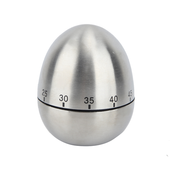 Kitchen cooking stainless steel egg shaped timer mechanical