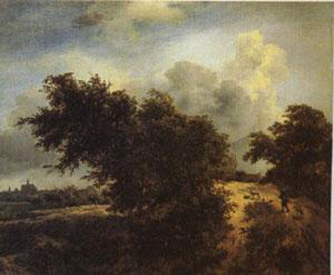 The Bush,Jacob van Ruisdael,68x82cm