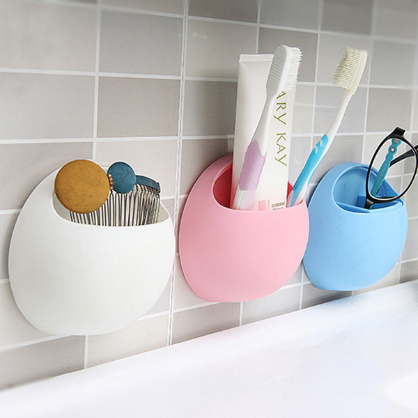 Toothbrush holder wall suction cup organizer bathroom