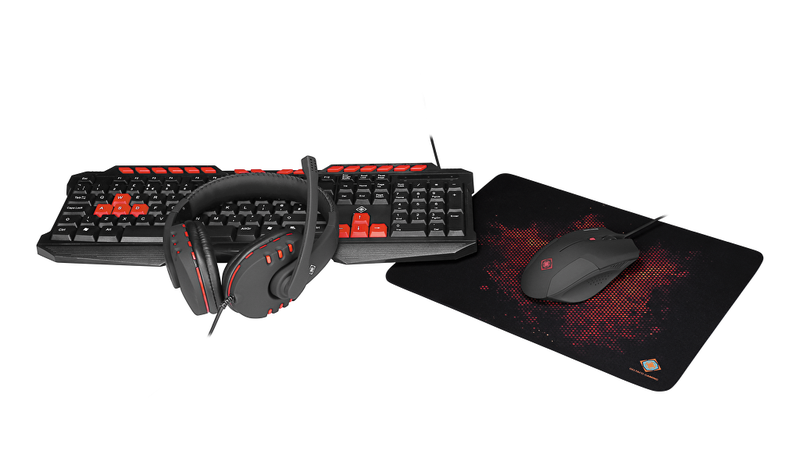 Gaming 4-in-1 gaming kit headset keyboard mouse,but i uk layo