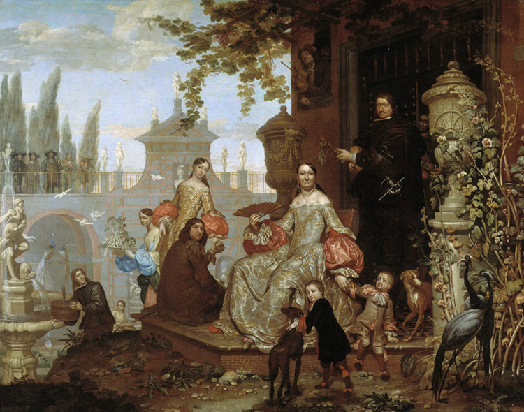 Portrait of a Family in a,Jan Van Kessel the Younger,50x40cm