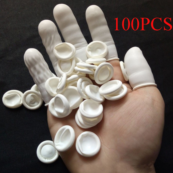 100pcs finger cots finger cover protector gloves rubber gloves