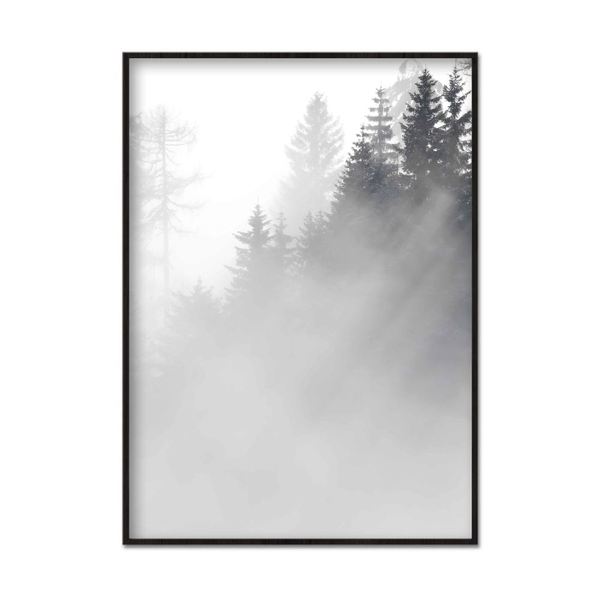Poster A4 21x30cm Foggy Trees