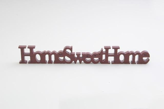 Home Sweet Home Sign Röd Wooden Ornament Decoration Sign