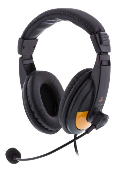 Deltaco gaming gam-012 stereo gaming headset 2x 3,5mm svart/or