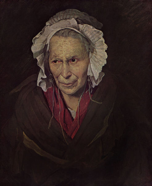 The Mad Woman with a Mania of Envy,Theodore Gericault,72x58cm