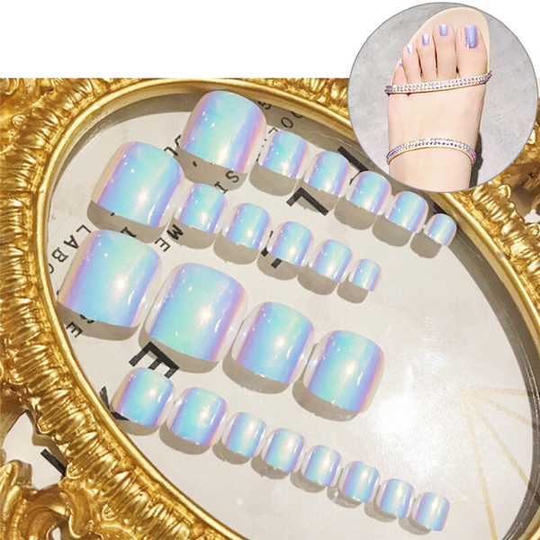 New 24pcs beauty chic toe nails for foot nail high quality with