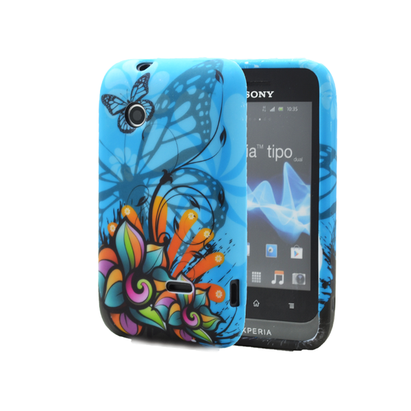 Flexicase skal till sony xperia tipo st21i – colorful