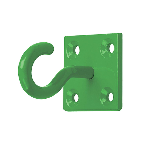 Perry equestrian chain hook on plate (pack of 2) green utbz2600