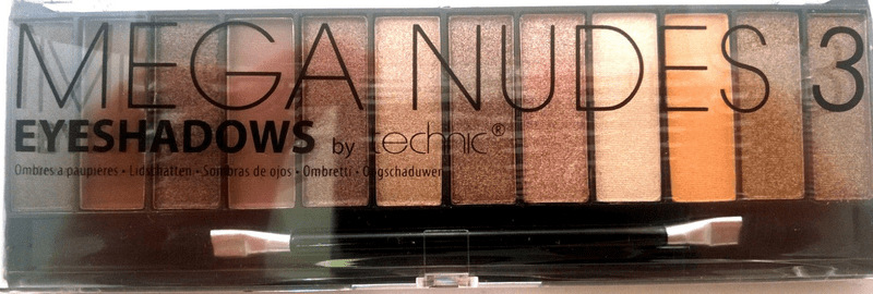 Technic mega nudes eyeshadows palette no.3