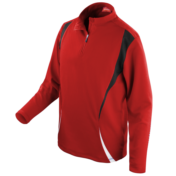 Unbranded Spiro unisex sports trial performance training top red/black/whi