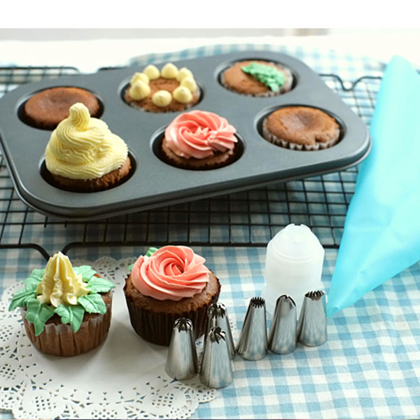 14pcs icing nozzles cake decorating tip piping pastry stainless