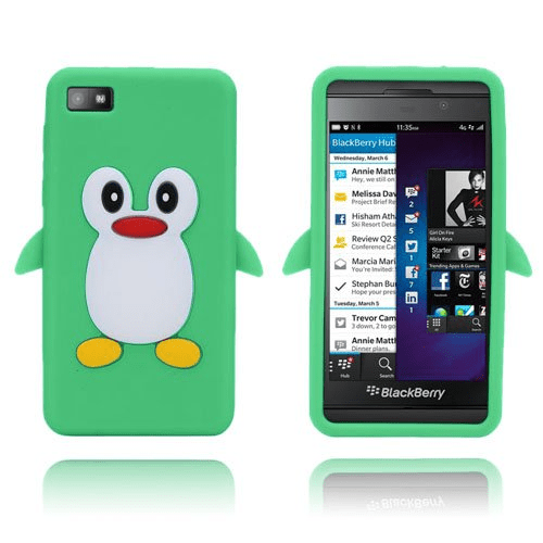 Penguin (grön) blackberry z10 silikonskal