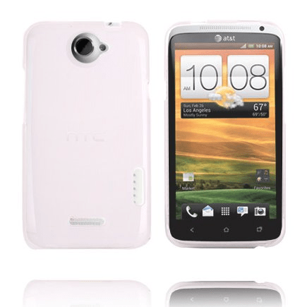 Tpu shell (transparent vit) htc one x skal