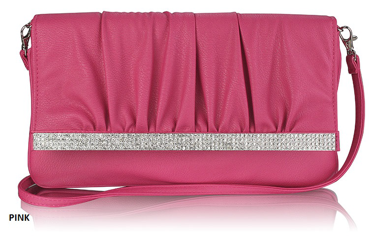 Clutch Bag Ladies Flapover Purse kvinnor With Long Strap Evening