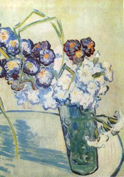 Glass with Carnations,Vincent Van Gogh,41x32cm