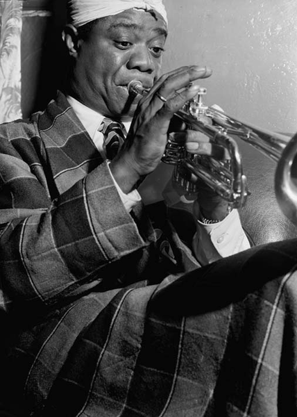 Poster louis armstrong 100×140 cm