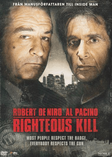 Righteous kill (dvd) thriller med robert de niro