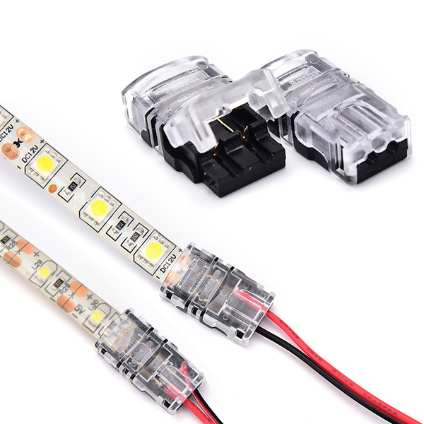 1/5pcs 2 pin led strip to wire connector 8mm/10mm tape light con