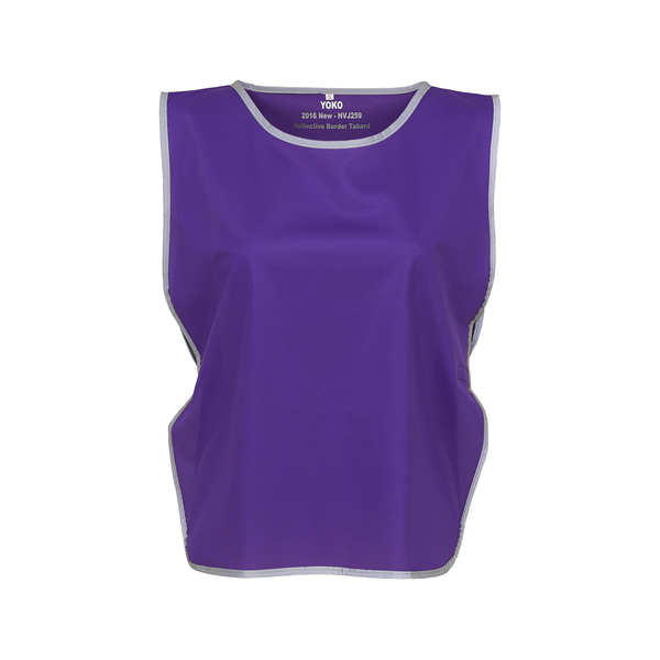 Yoko hi vis reflective border tabard (pack of 2) purple utbc4417