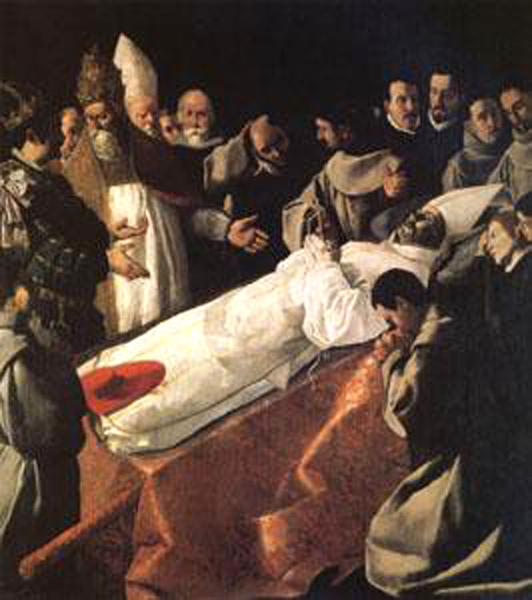 The Lying-in-State of of of St Bonaventure,Francisco de Zurbaran,60x50 056c4a
