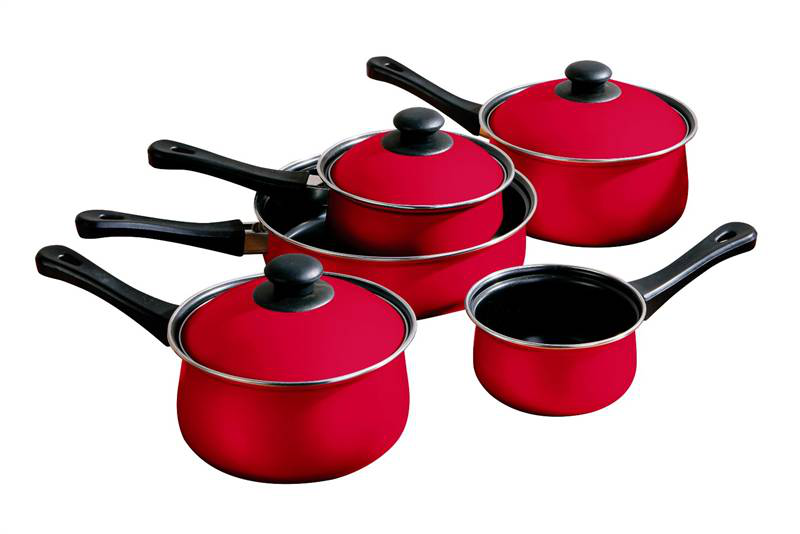 5pc red cookware set