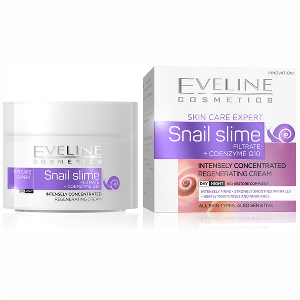 Snail slime and coenzyme q10 intensely concentrated day/night