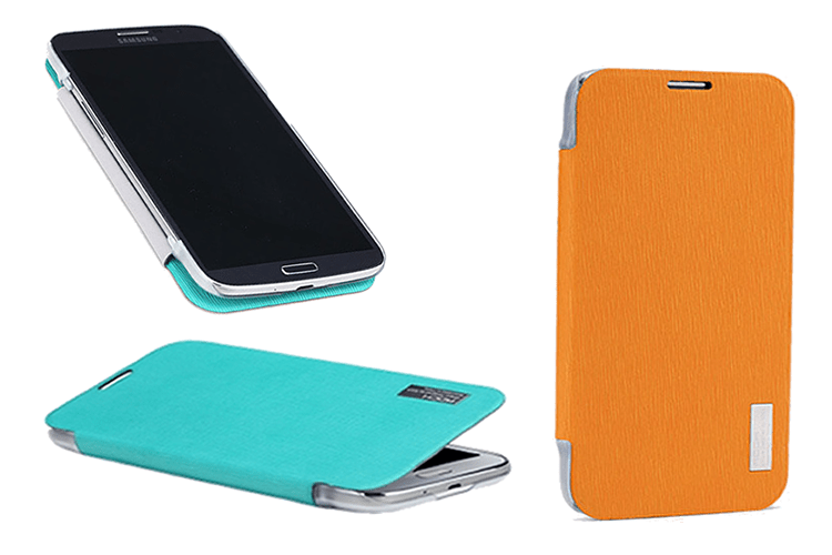 Rock side flip case elegant series for galaxy mega 6.3