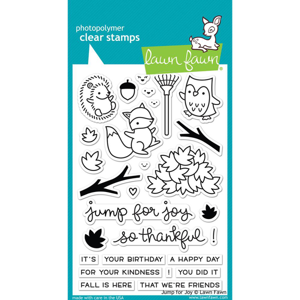Clear stamps 4″x6″ – lawn fawn – jump for joy