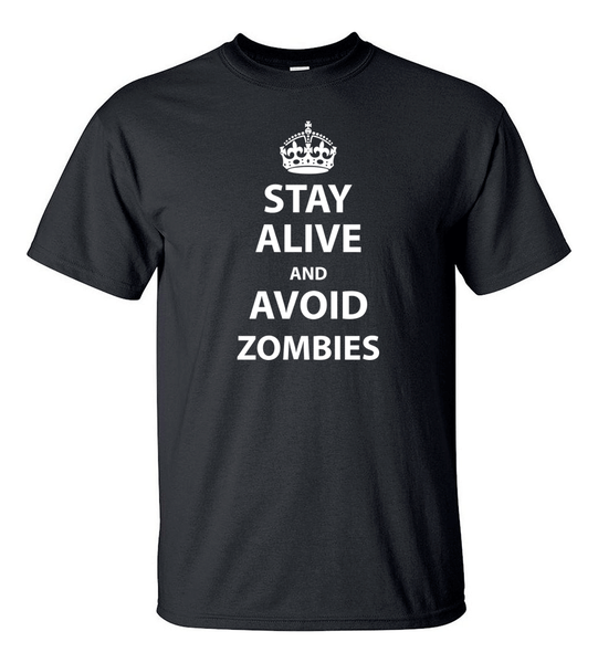 T-shirt - Stay Alive And Avoid Zombies - HERR